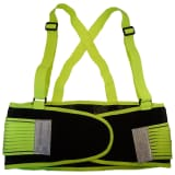 Toolpack Reflective Back Support Belt Neon Yellow 360.130