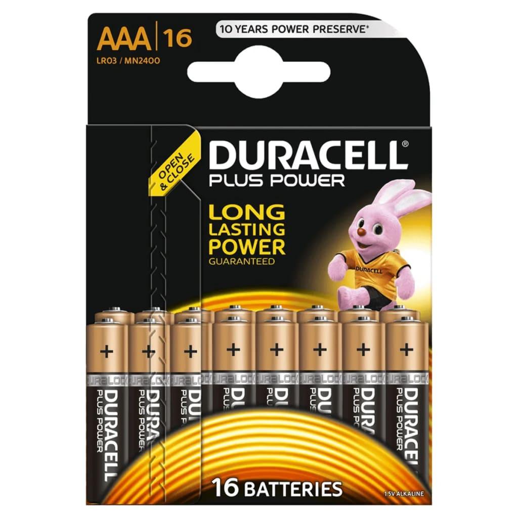 Afbeelding van Duracell Alkaline batterijen AAA Plus Power 16 st