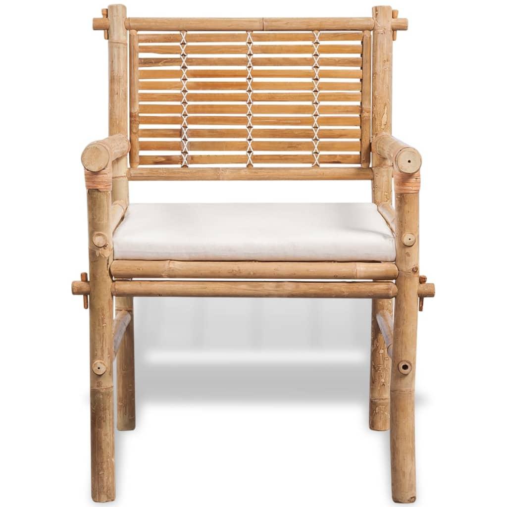 Acheter vidaxl jeu de mobilier de jardin 5 pi ces en for Mobilier bambou exterieur