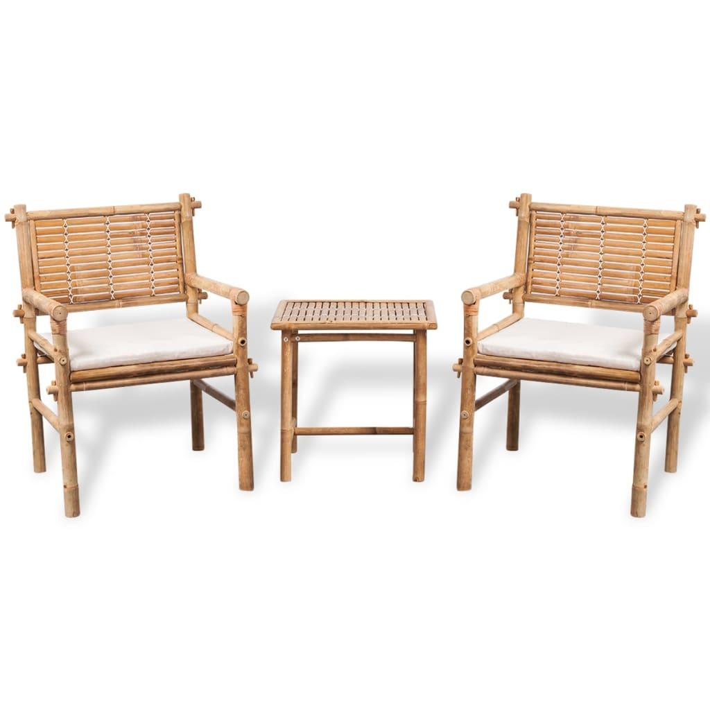 Vidaxl conjunto de muebles de jard n de bamb 5 piezas - Conjuntos muebles jardin ...