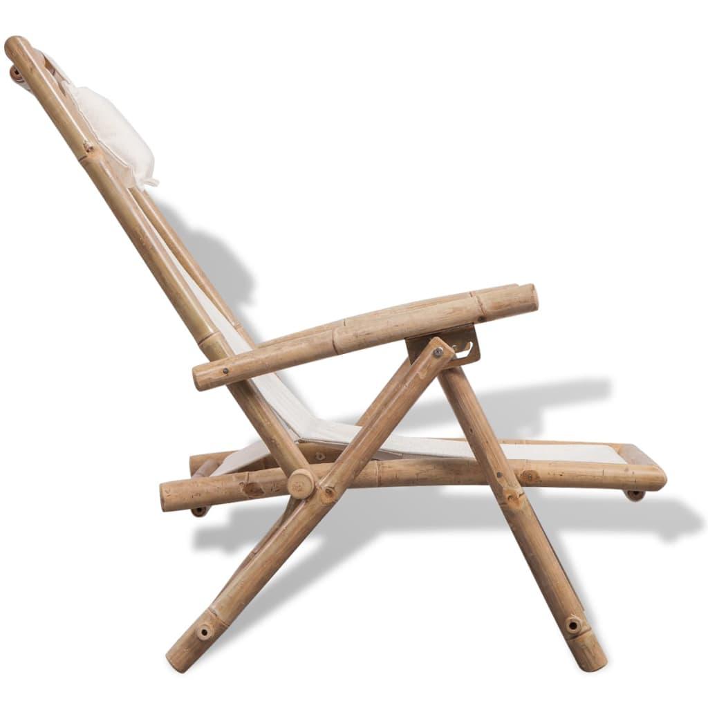la boutique en ligne vidaxl chaise de terrasse en bambou. Black Bedroom Furniture Sets. Home Design Ideas