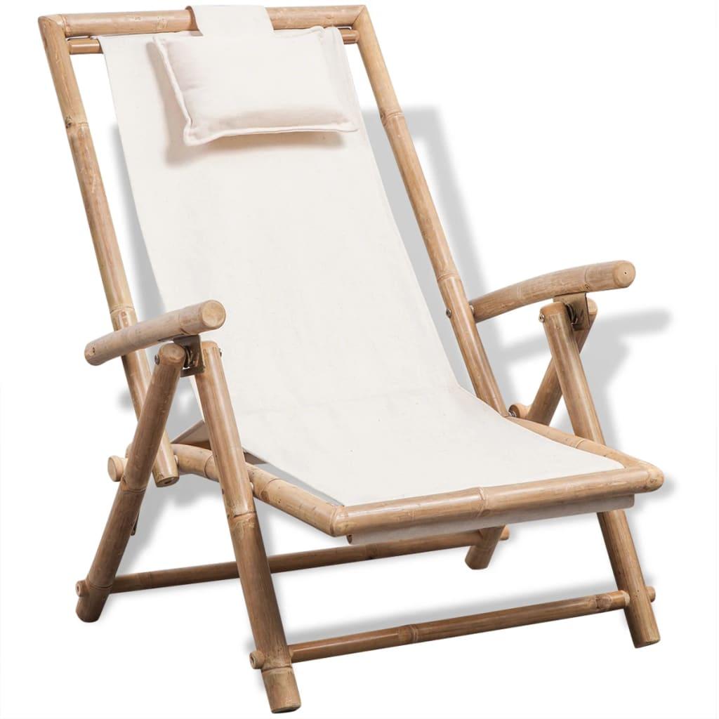 acheter vidaxl chaise de terrasse en bambou pas cher. Black Bedroom Furniture Sets. Home Design Ideas