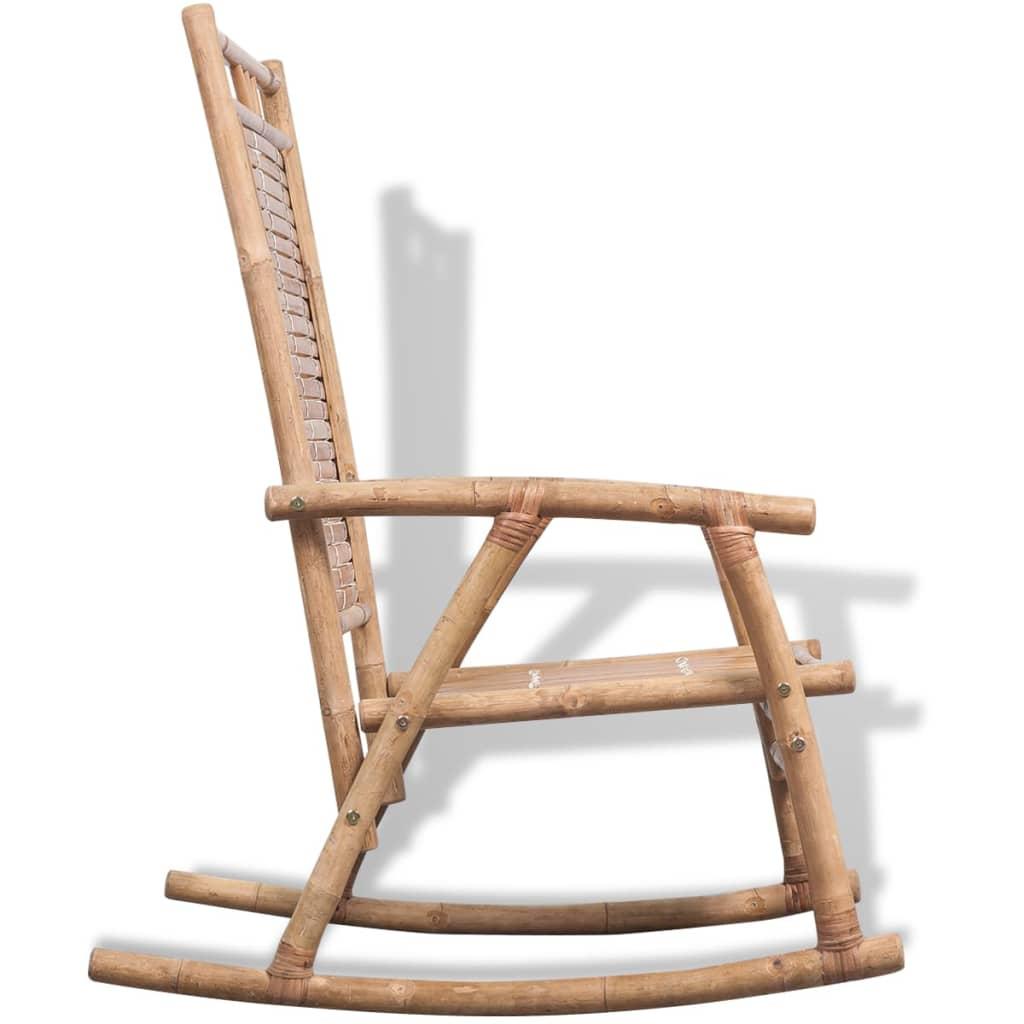 Acheter vidaxl chaise bascule en bambou pas cher - Chaise a bascule pas cher ...