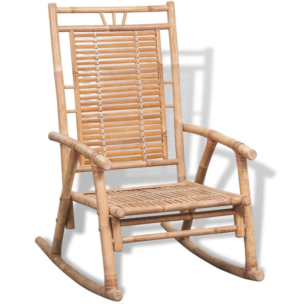 acheter vidaxl chaise bascule en bambou pas cher. Black Bedroom Furniture Sets. Home Design Ideas