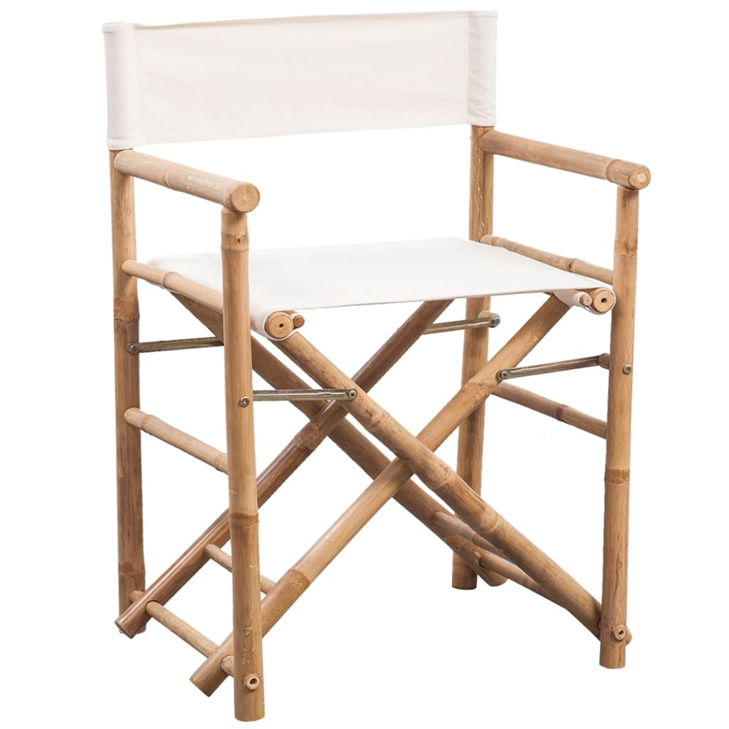 Vidaxl Co Uk Vidaxl Folding Director S Chair Bamboo And