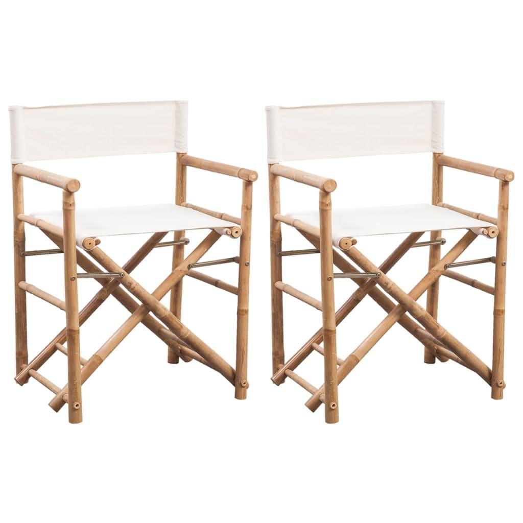 acheter vidaxl chaise pliable en bambou et toile pas cher. Black Bedroom Furniture Sets. Home Design Ideas