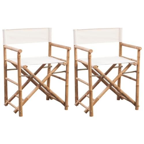 bambus regiestuhl gartenstuhl klappstuhl faltstuhl gartenm bel klappbar canvas ebay. Black Bedroom Furniture Sets. Home Design Ideas