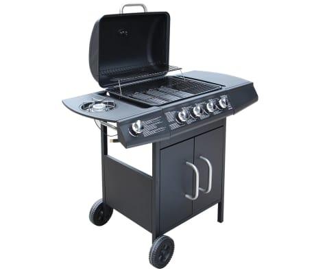 vidaxl gasgrill barbecue grill 4 1 brenner schwarz g nstig. Black Bedroom Furniture Sets. Home Design Ideas