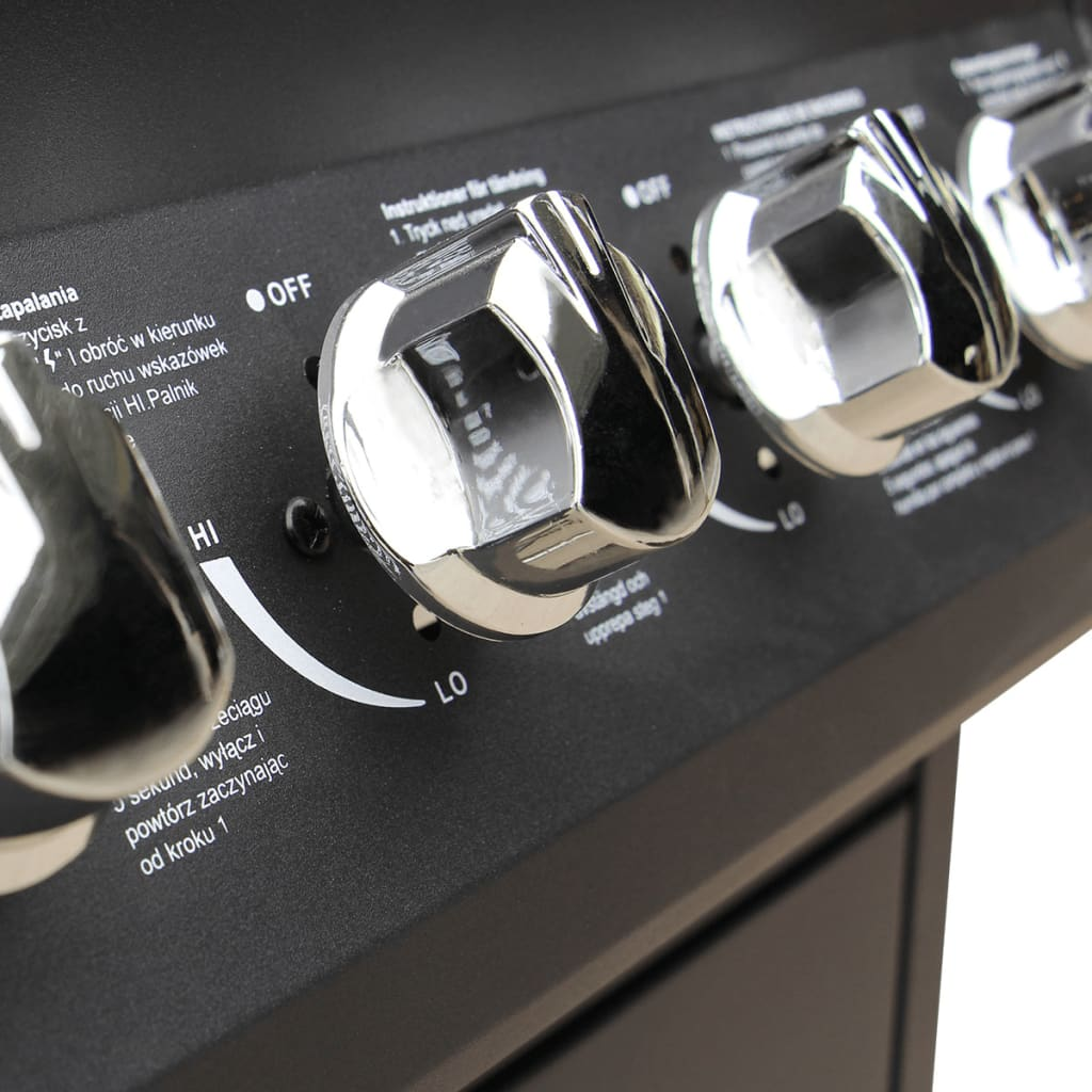 vidaxl gasgrill barbecue grill 6 1 brenner schwarz g nstig kaufen. Black Bedroom Furniture Sets. Home Design Ideas