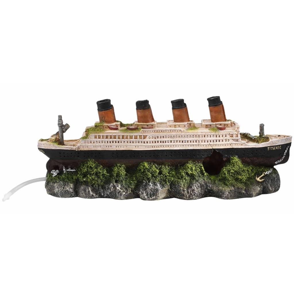 Afbeelding van Aqua d'ella Scheepswrak Titanic met luchtsteen 39x11x17 cm 234/237601