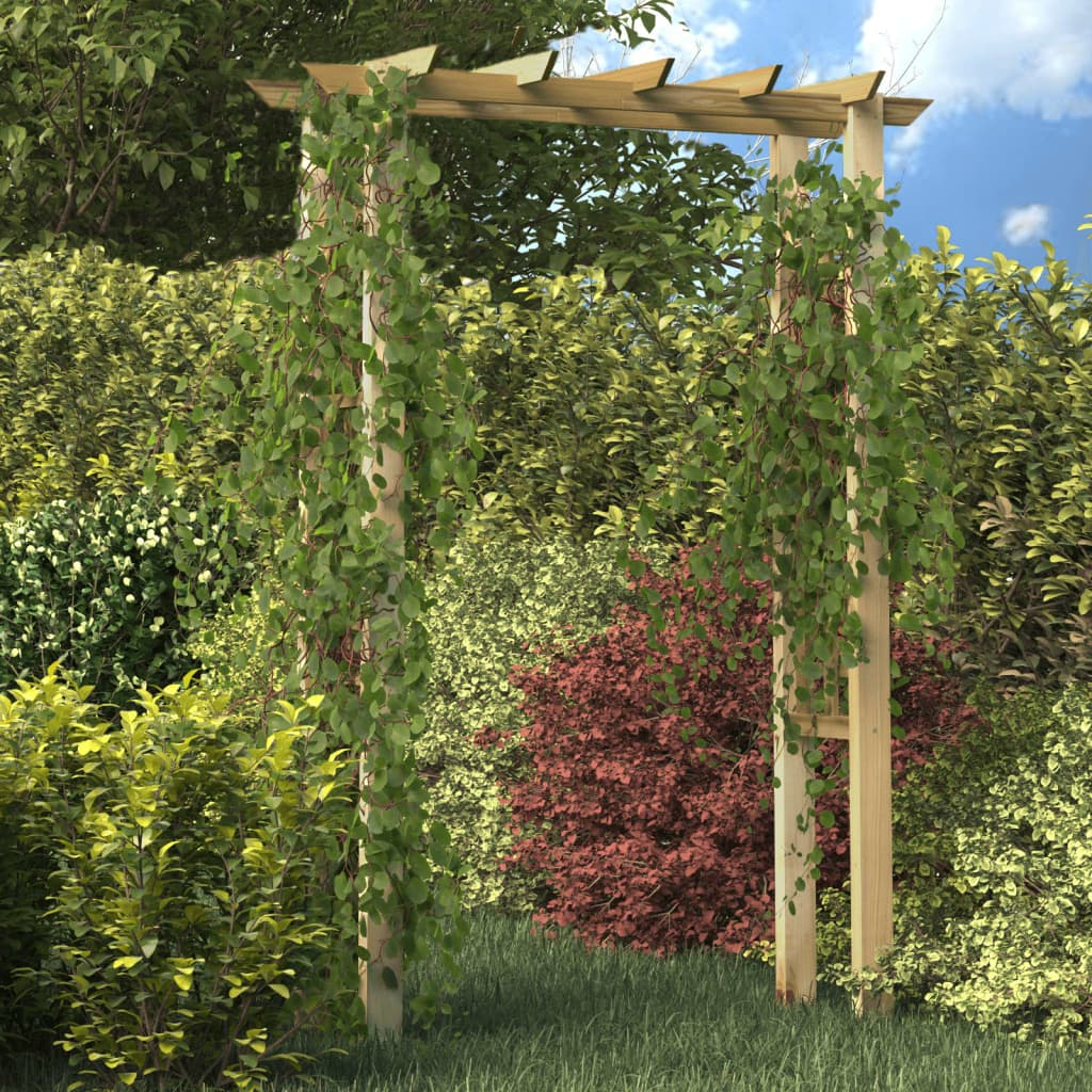 Impregnated wooden arbour rose arch 150 x for Arche de jardin en bois
