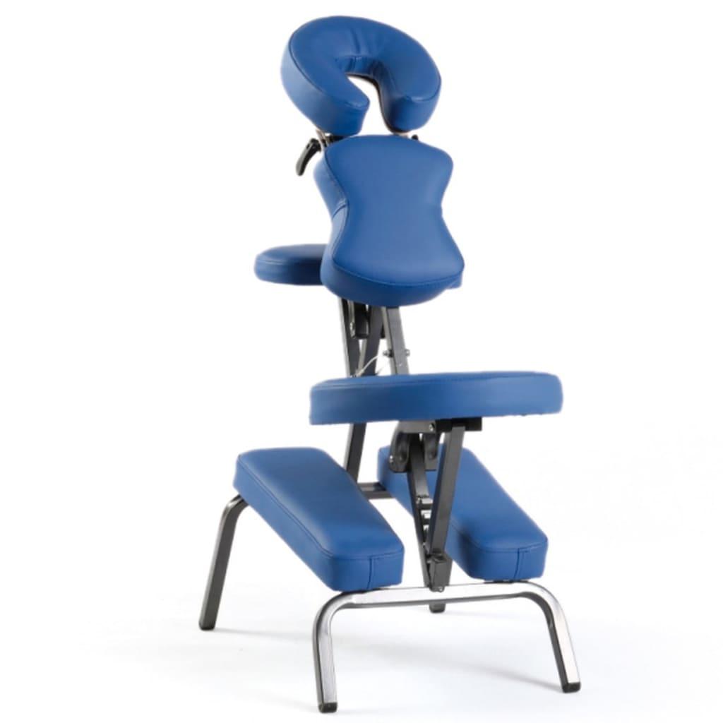 Sissel Przenośne krzesło do masażu, 69x8x(115-130) cm, niebieskie