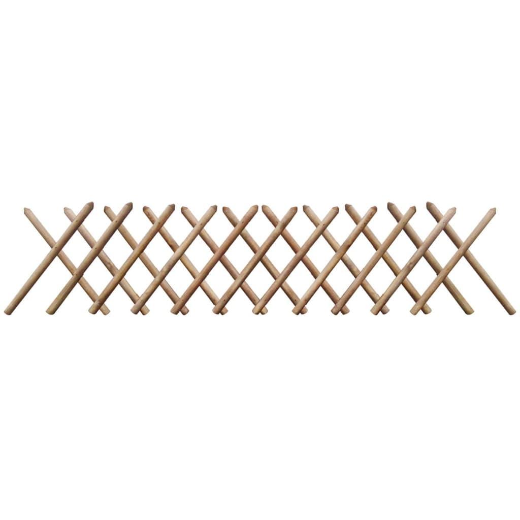 vidaXL Impregnált kihúzható fa lugas kerítés 250 x 60 cm