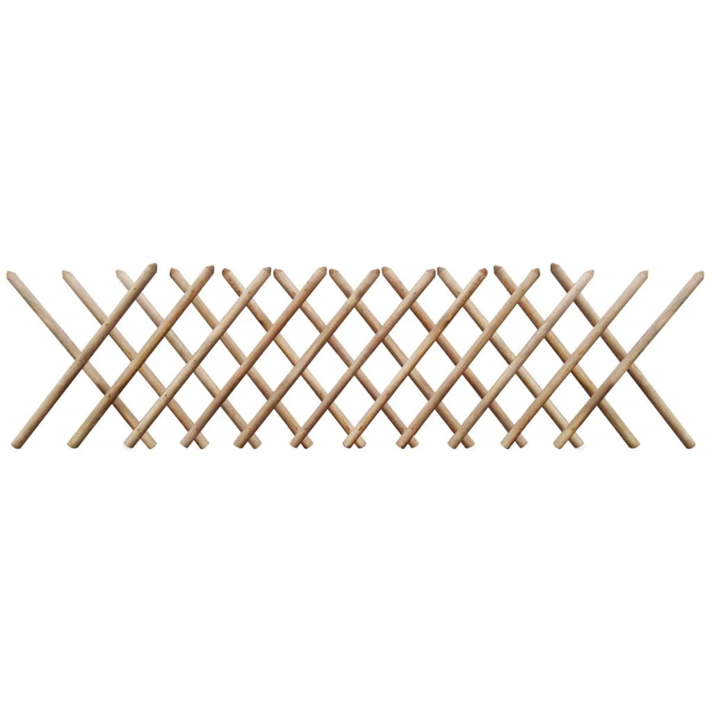 vidaXL Impregnated Expandable Wooden Trellis Fence 250 x 80 cm