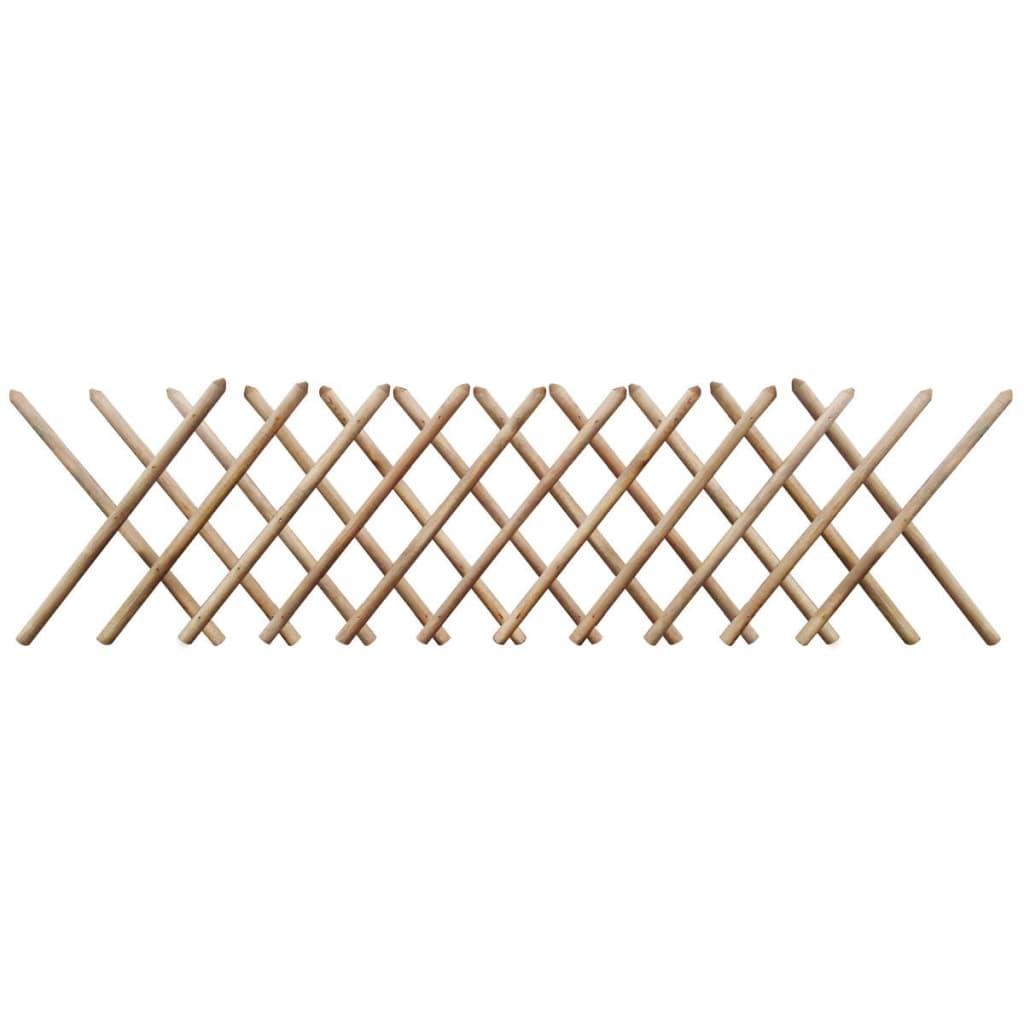 vidaXL Impregnált kihúzható fa lugas kerítés 250 x 80 cm