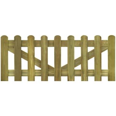 vidaxl valla de madera impregnada para cerca uds x cm