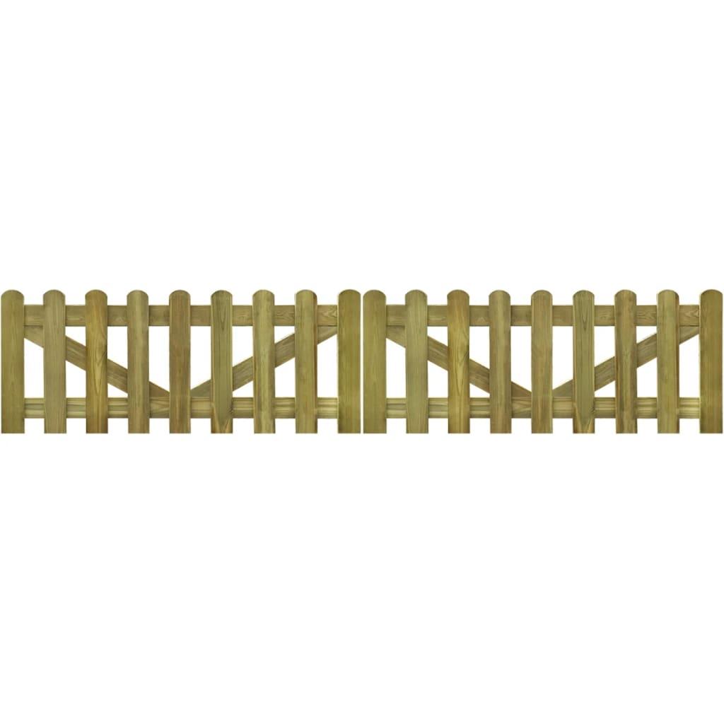 vidaXL 2 db impregnált fa kerítés kapu 300 x 60 cm