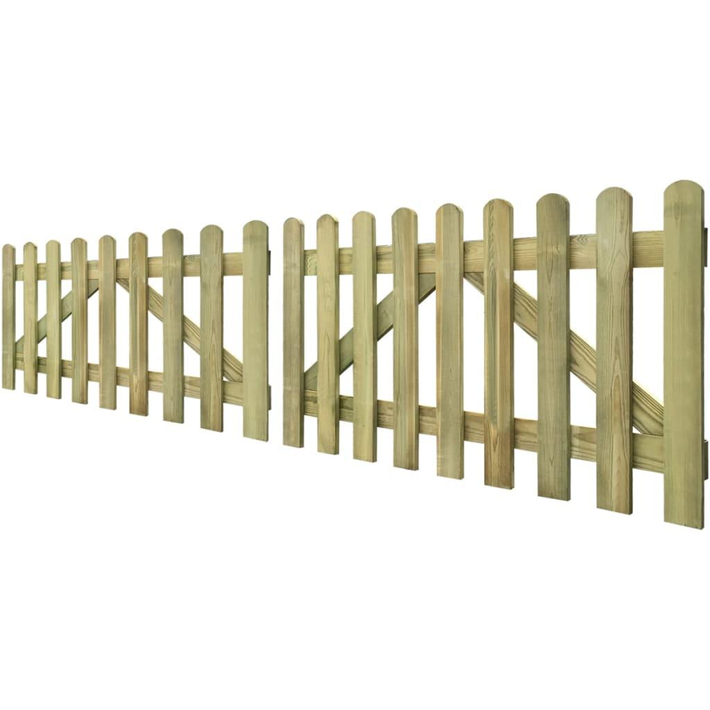 vidaxl tuinhek poort 2 stuks 300 x 80 cm ge mpregneerd hout. Black Bedroom Furniture Sets. Home Design Ideas