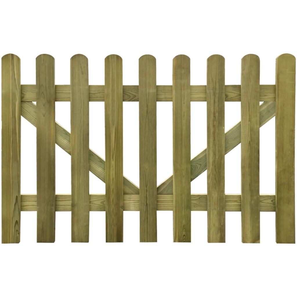 vidaxl valla de madera impregnada para cerca uds x