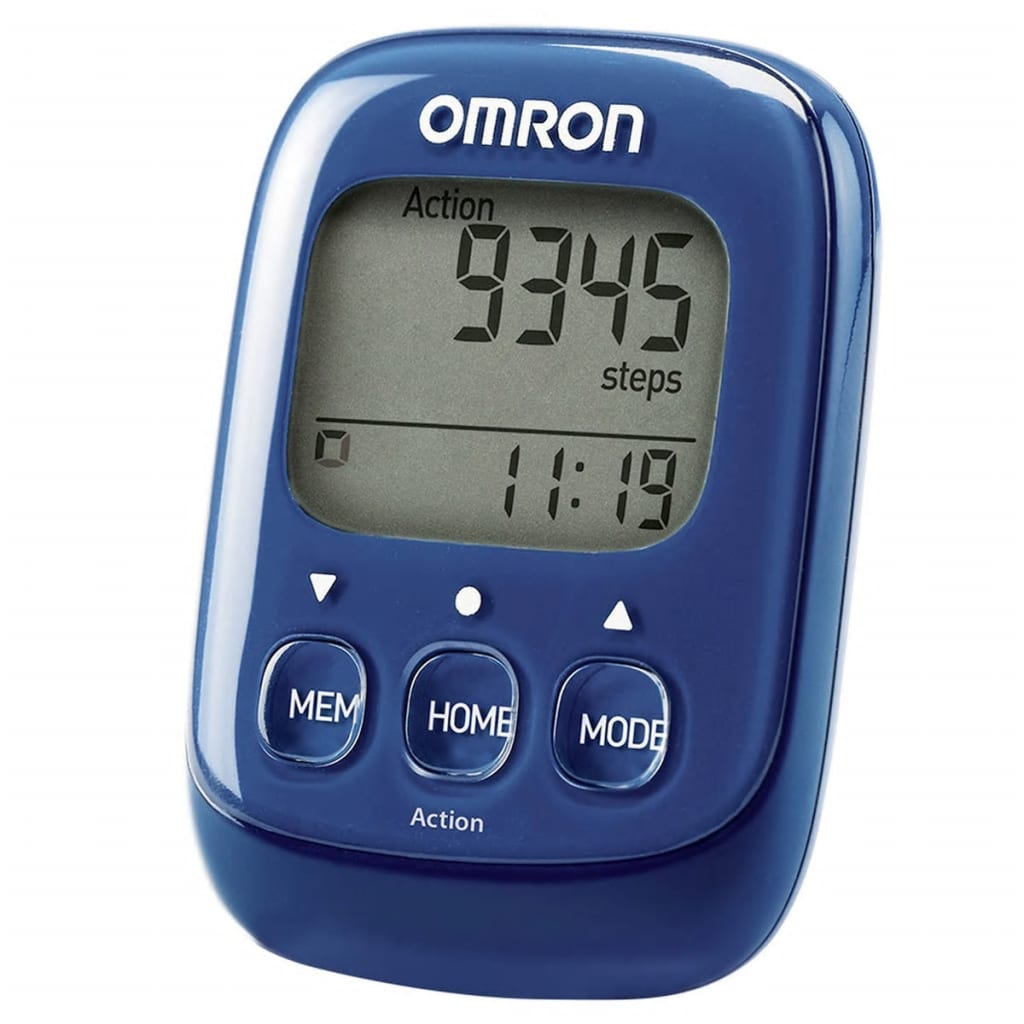 Omron elektronisk skridttæller Walking Style IV blå OMR-HJ-325-EB