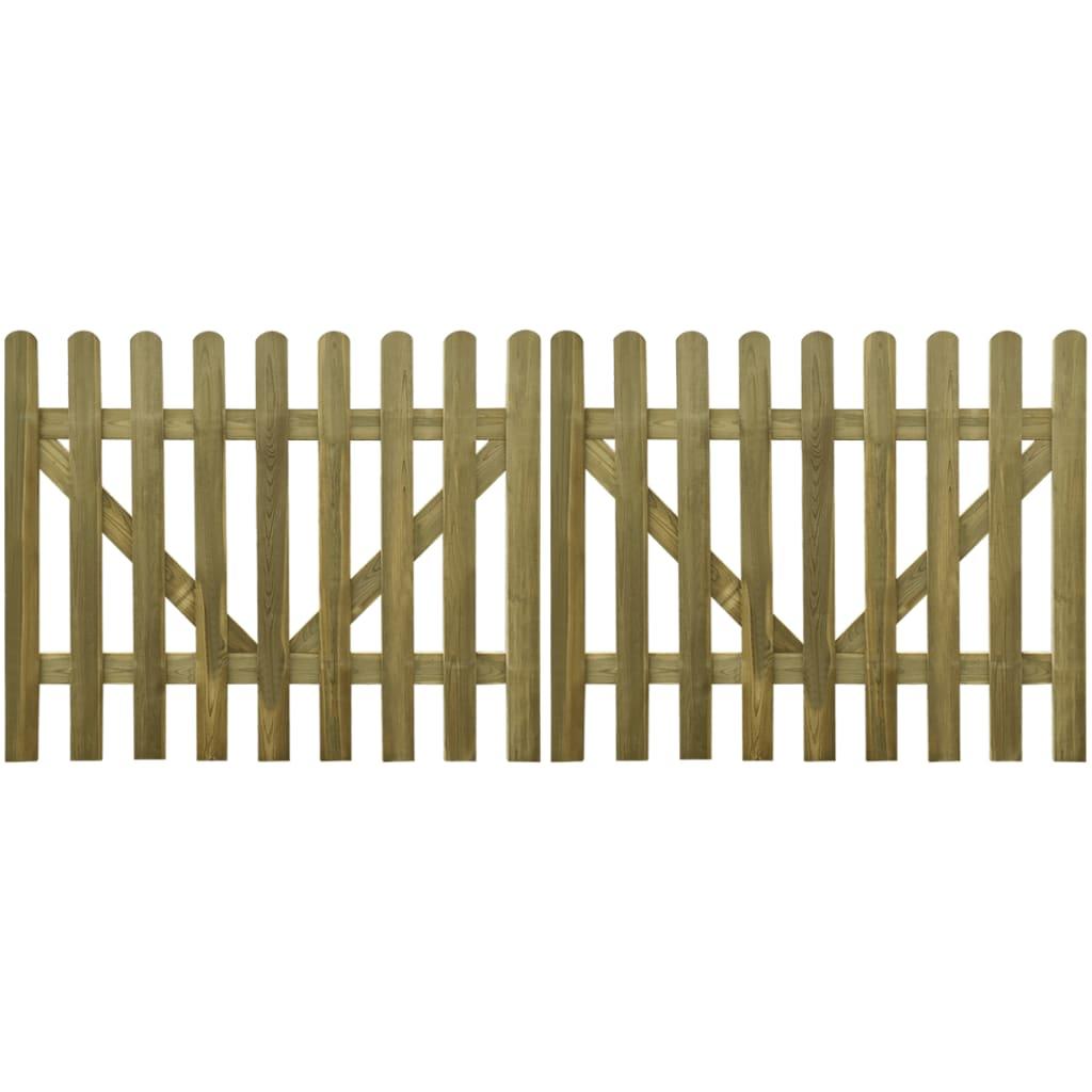la boutique en ligne vidaxl portail piquet en bois impr gn 2 pcs 300 x 120 cm. Black Bedroom Furniture Sets. Home Design Ideas