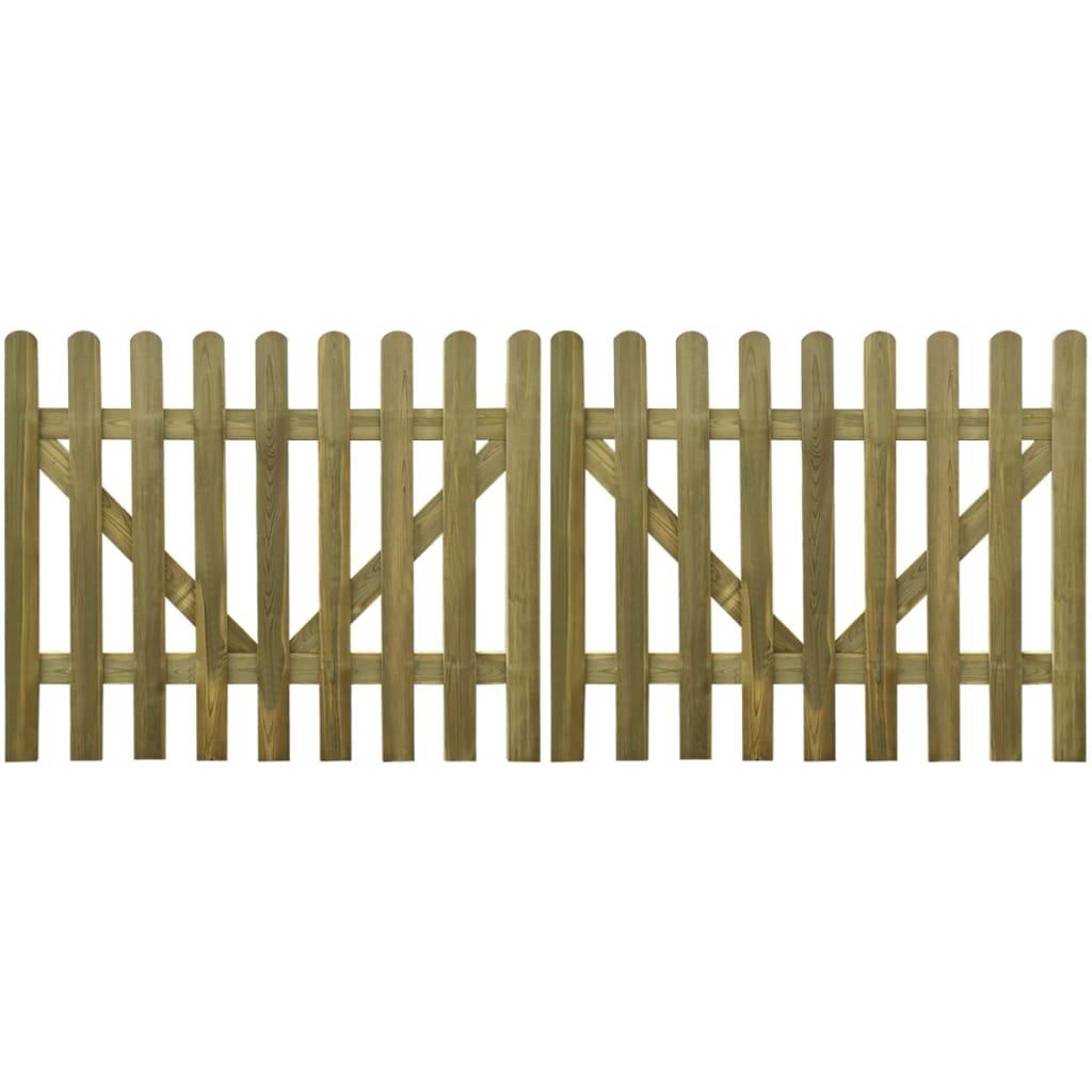 Set 2 pz Cancello per recinto steccato misure diverse in legno impregnato