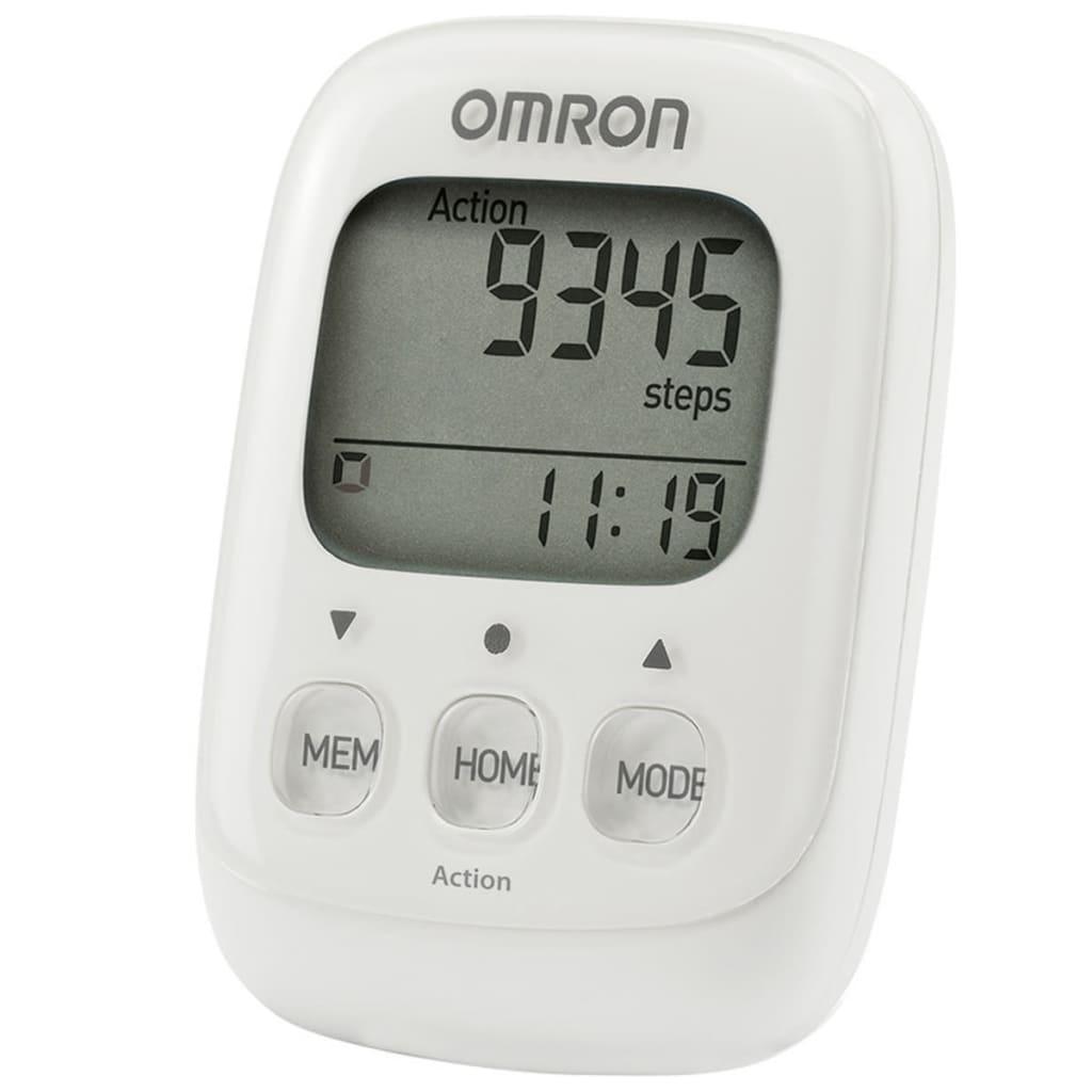 Omron elektronisk skridttæller Walking Style IV hvid OMR-HJ-325-EW