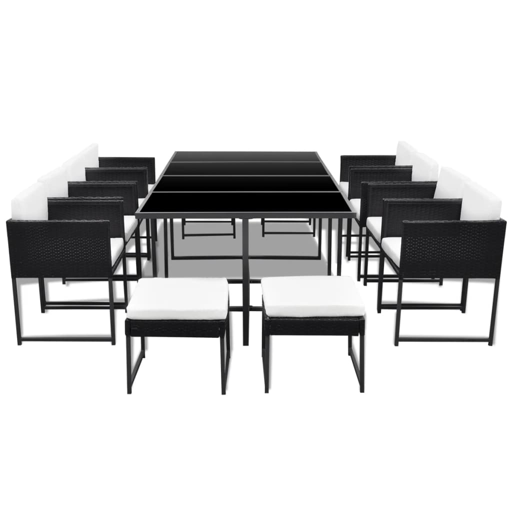 acheter vidaxl ensemble salle manger ext rieur en poly. Black Bedroom Furniture Sets. Home Design Ideas