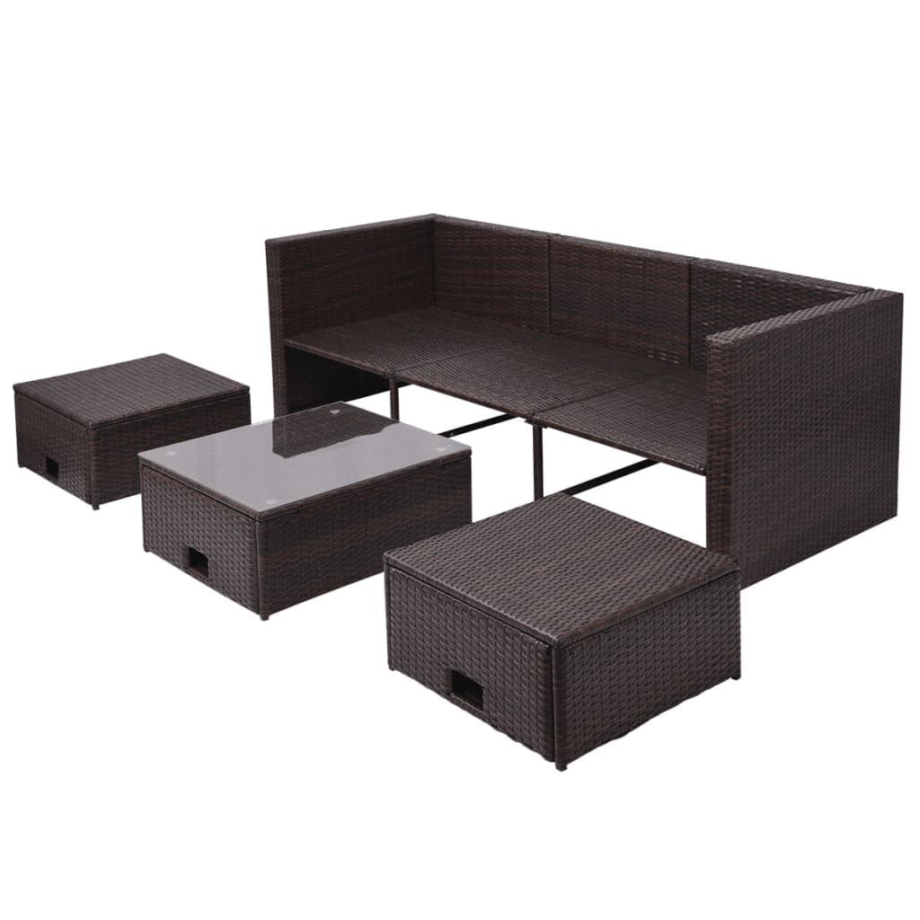 acheter vidaxl mobilier de jardin 12 pi ces rotin. Black Bedroom Furniture Sets. Home Design Ideas