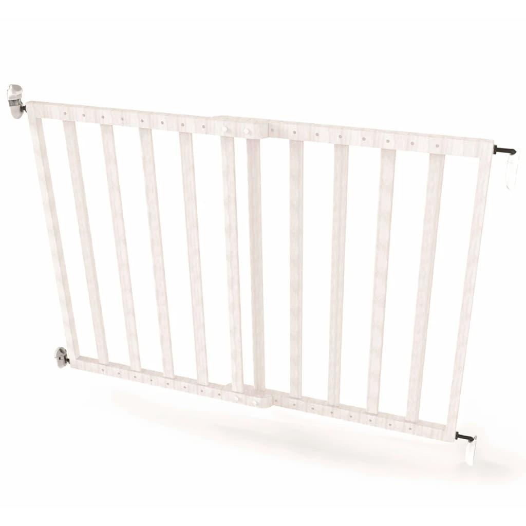 Afbeelding van Noma Veiligheidshekje verstelbaar 63,5-106 cm hout wit 94153