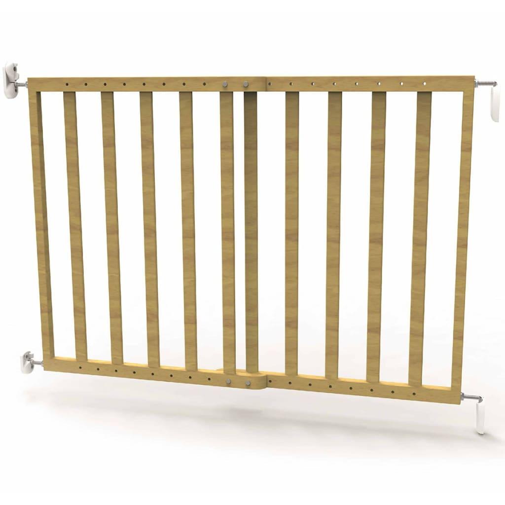 Afbeelding van Noma Veiligheidshekje verlengbaar 63,5-106 cm hout natuurlijk 93729