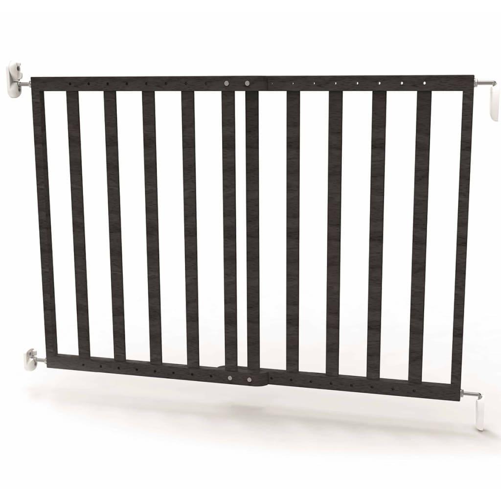 Afbeelding van Noma Veiligheidshekje verstelbaar 63,5-106 cm hout grijs 94146