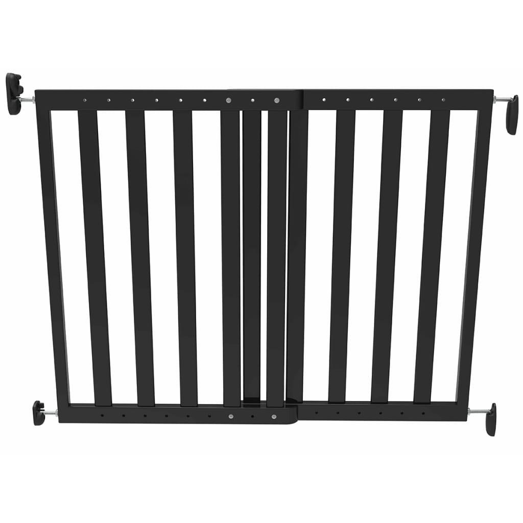 Afbeelding van Noma Veiligheidshekje verstelbaar 63,5-106 cm hout zwart 93743