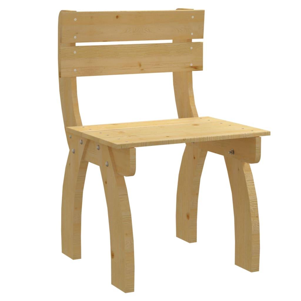 vidaXL Krzesło z oparciem drewna sosnowego