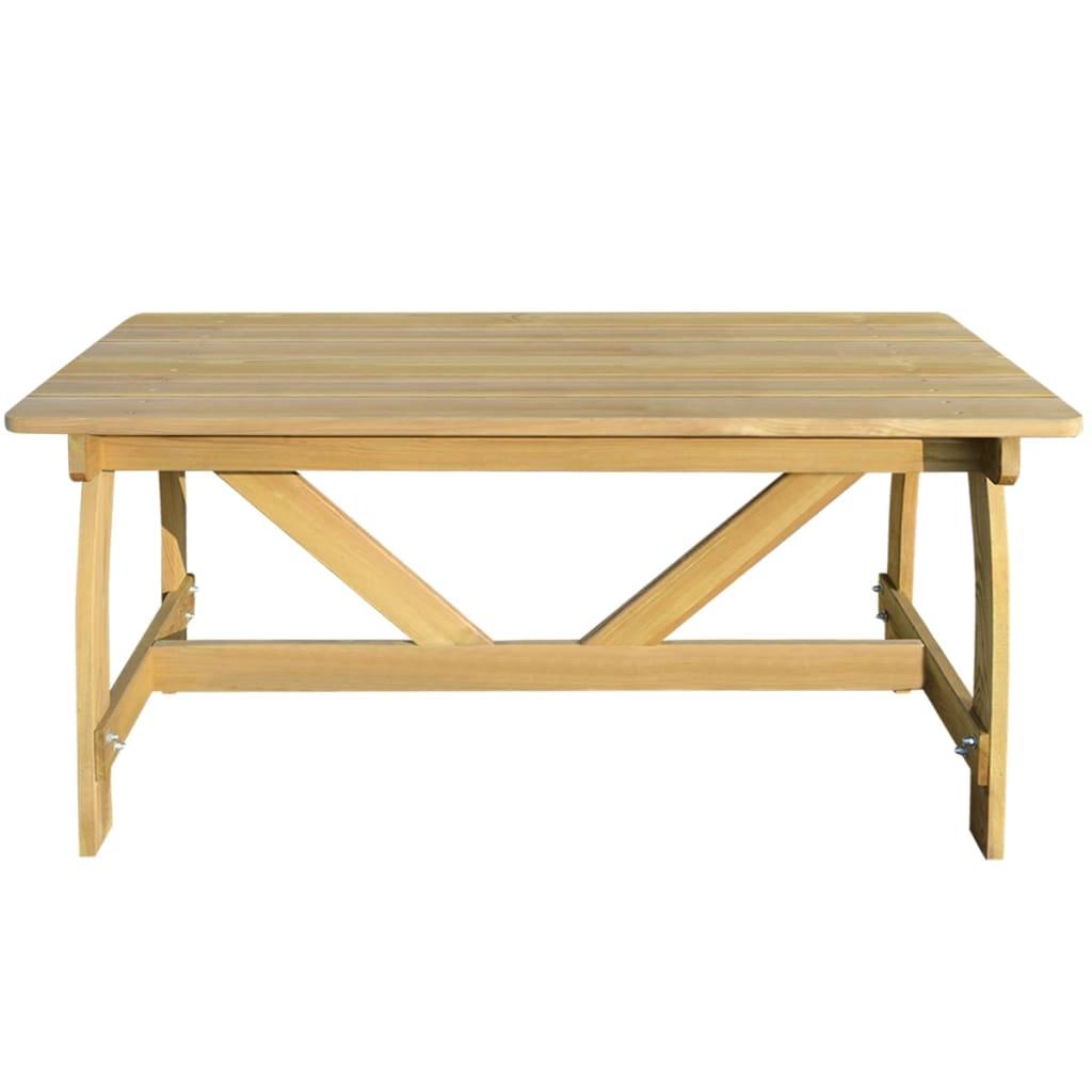 Vidaxl mesa de jard n con madera de pino impregnada for Mesas de madera para jardin baratas