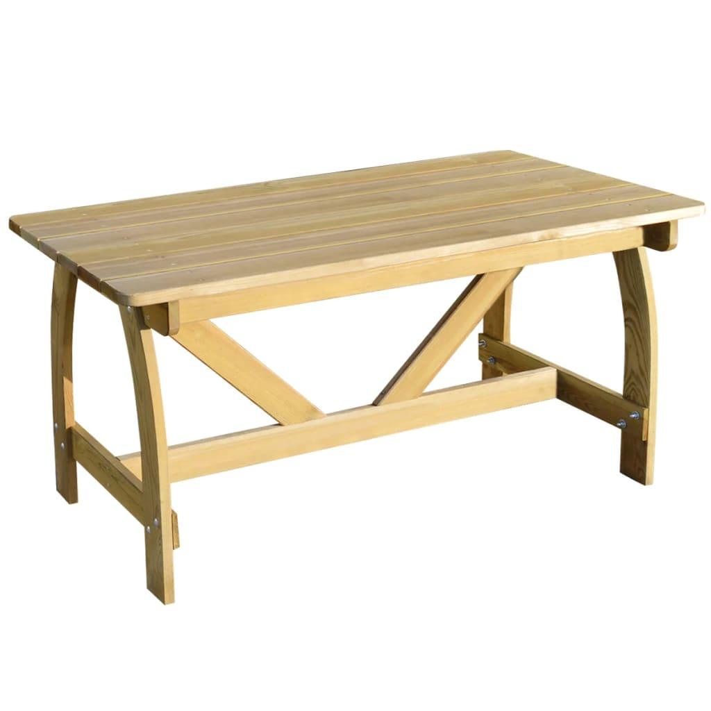 Vidaxl mesa de jard n con madera de pino impregnada - Mesa de madera para jardin ...