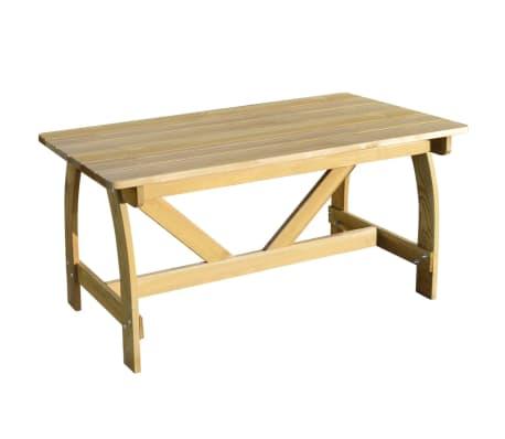 Vidaxl tavolo da giardino in legno di pino impregnato - Pino nano da giardino ...