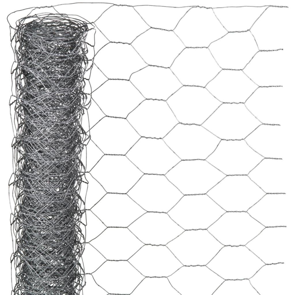 Nature Chicken Wire Garden Fence Grey 0.5x5 m Panel Barrier ...