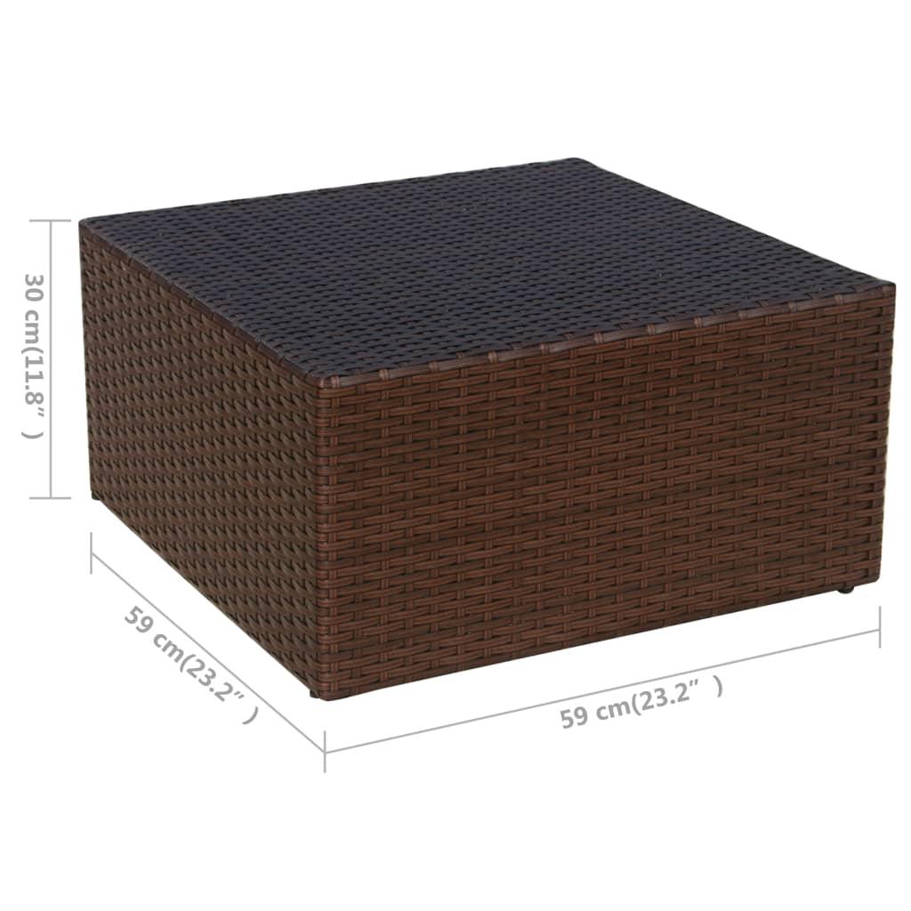 vidaxl f nfteilige gartenstuhl garnitur poly rattan braun im vidaxl trendshop. Black Bedroom Furniture Sets. Home Design Ideas