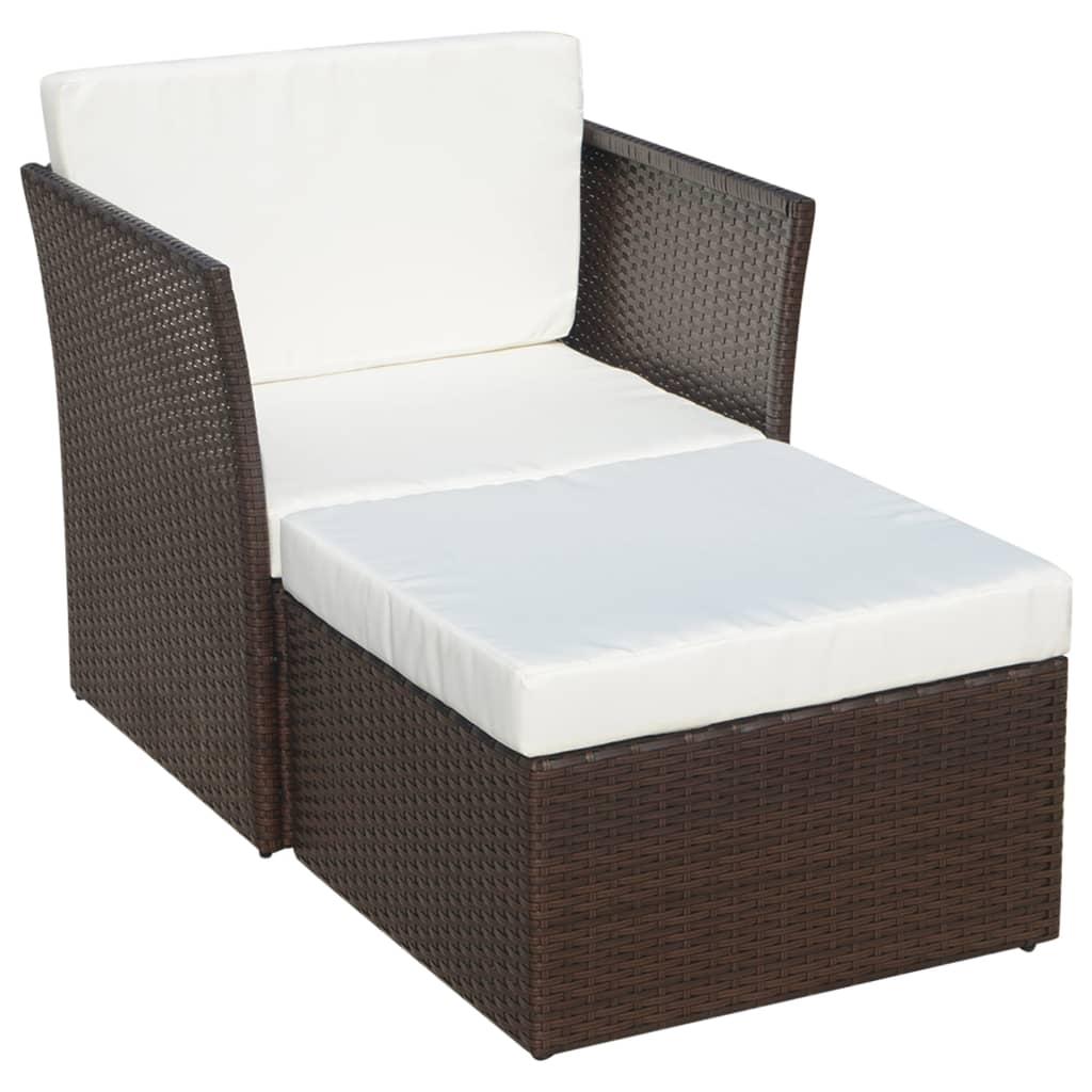 Vidaxl conjunto de sillas de jard n marrones 5 piezas de for Sillas marrones