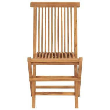 vidaXL Chaise pliable en teck 2 pièces 47 x 60 x 89 cm[3/3]