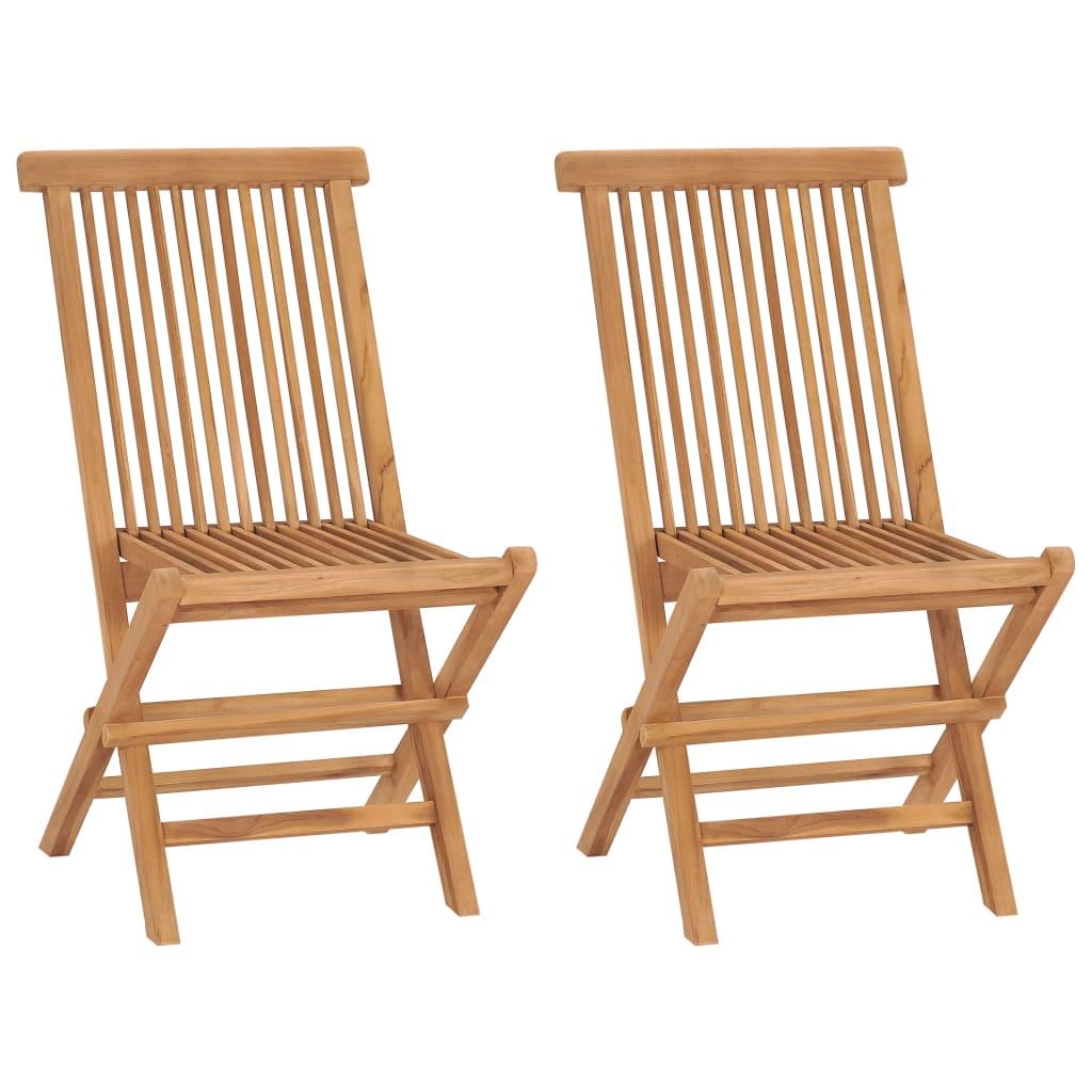 Vidaxl sillas plegables de teca 2 unidades 47x60x89 cm tienda online - Vidaxl sillas ...