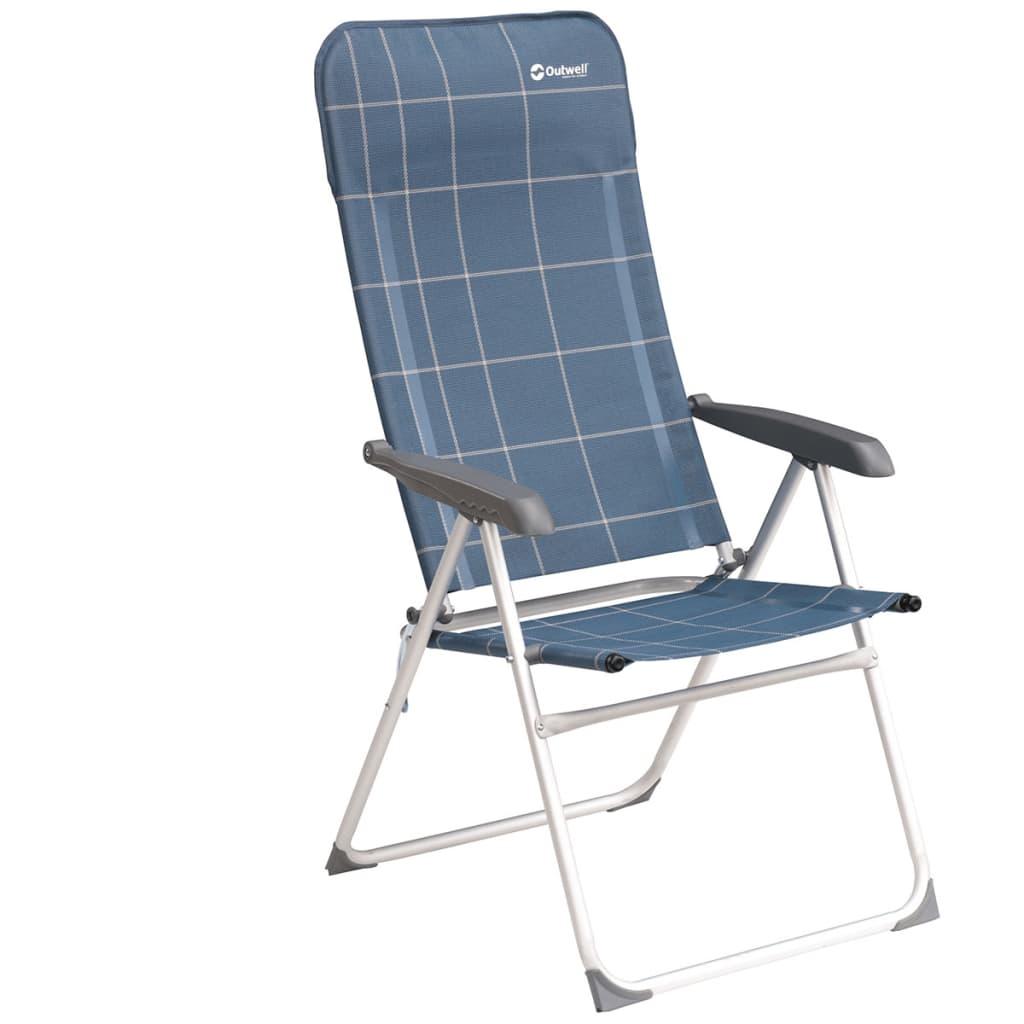 Outwell Krzesło składane Kenora, niebieskie, 58x65x114 cm, 410071