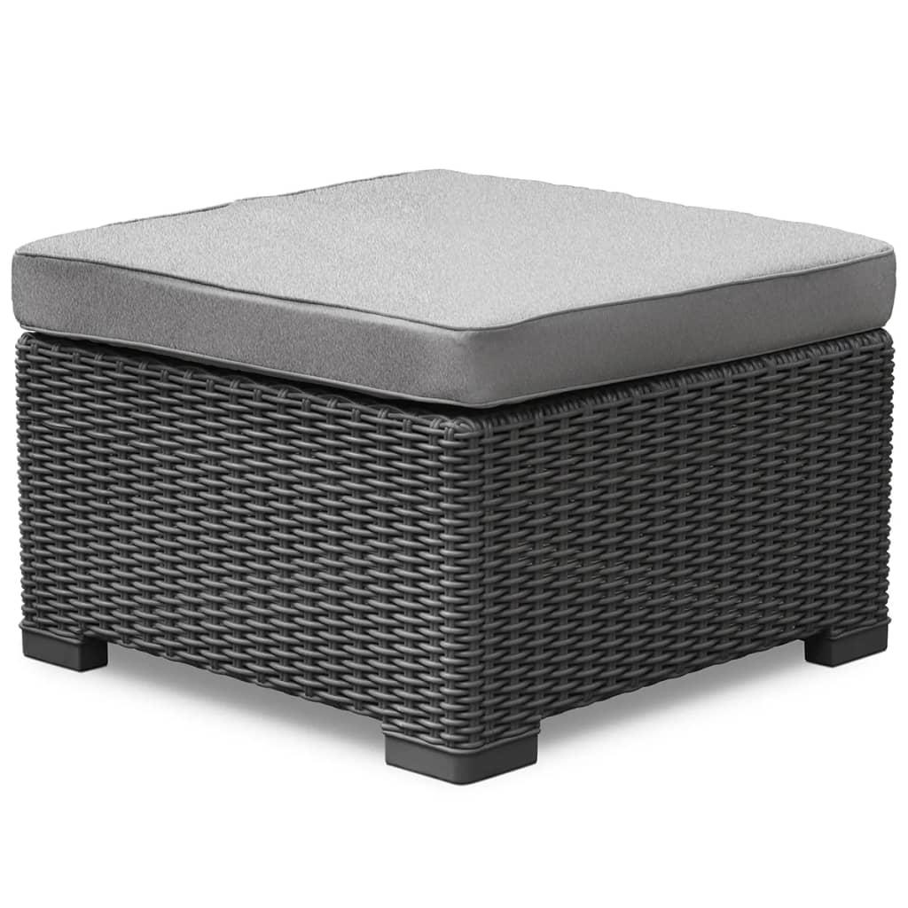 allibert pouf d 39 ext rieur california graphite chaise si ge. Black Bedroom Furniture Sets. Home Design Ideas