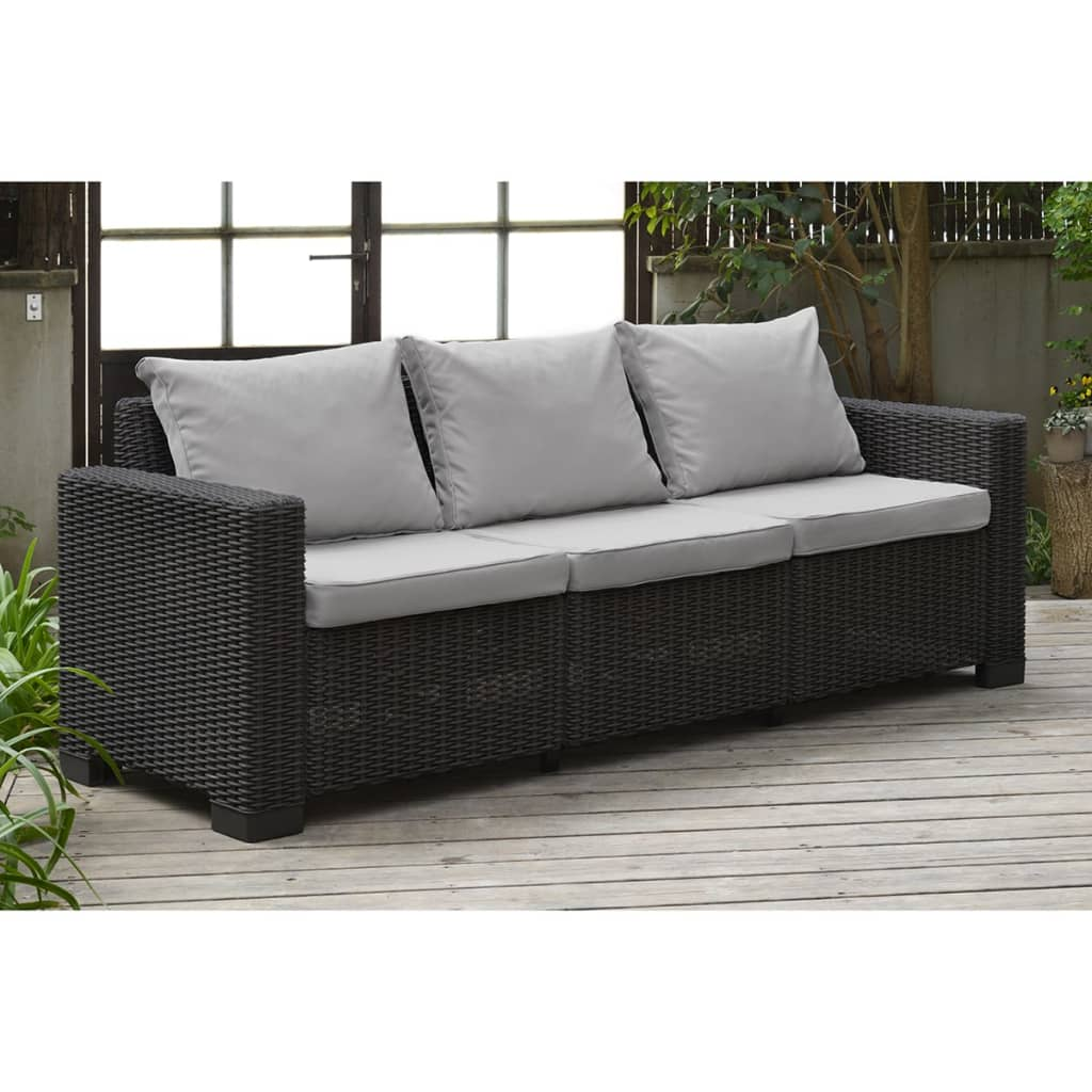 allibert jeu de canap de jardin 7 pcs california graphite meuble ext rieur ebay. Black Bedroom Furniture Sets. Home Design Ideas