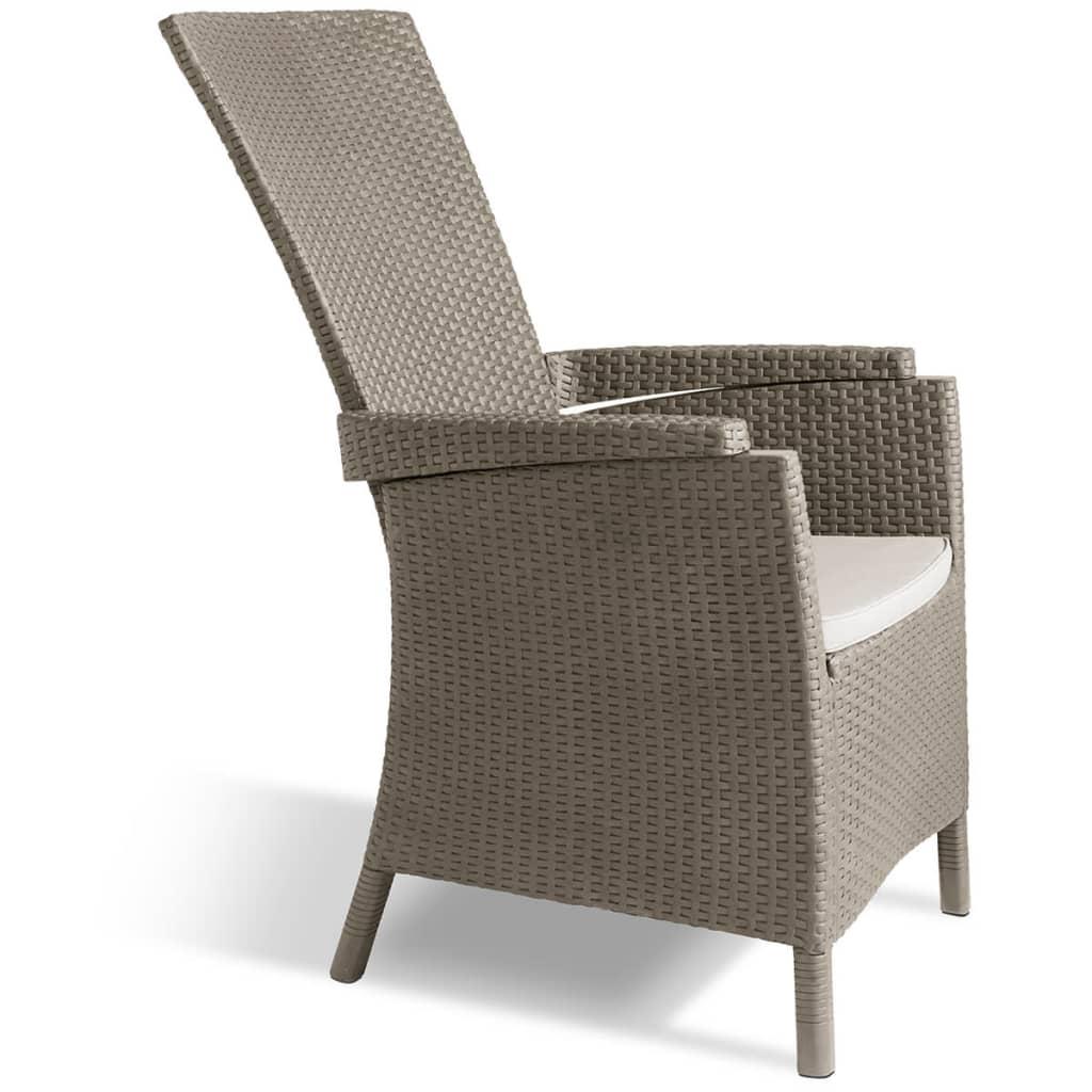 Allibert Wypoczynkowe krzesło ogrodowe Vermont, cappuccino 223008