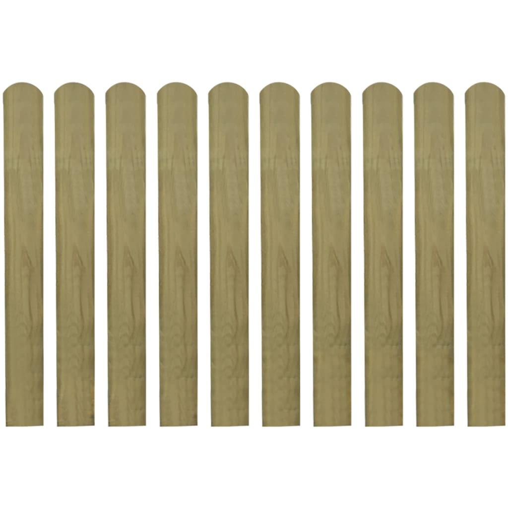 vidaXL 10 db impregnált fa kerítés léc 80 cm