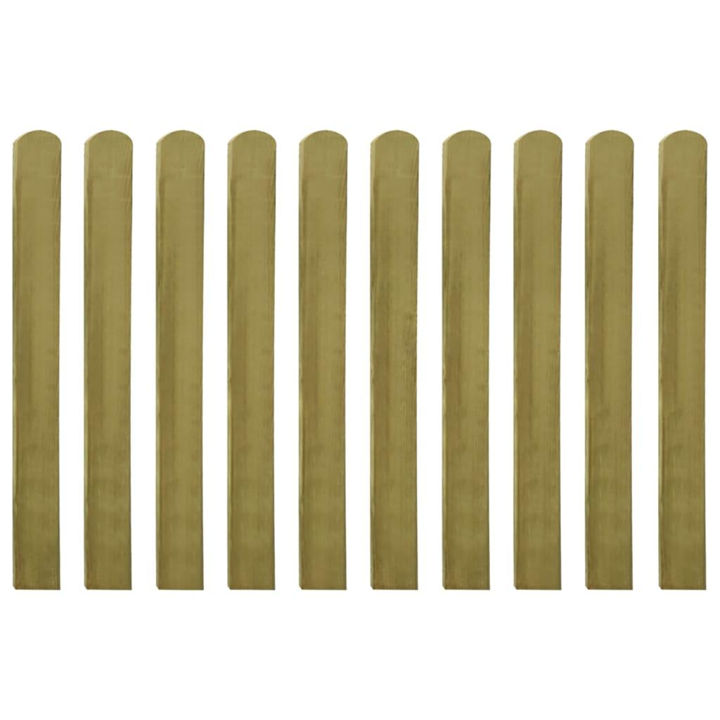 Vidaxl listones de madera impregnados para cercado 10 uds - Cercado de madera ...