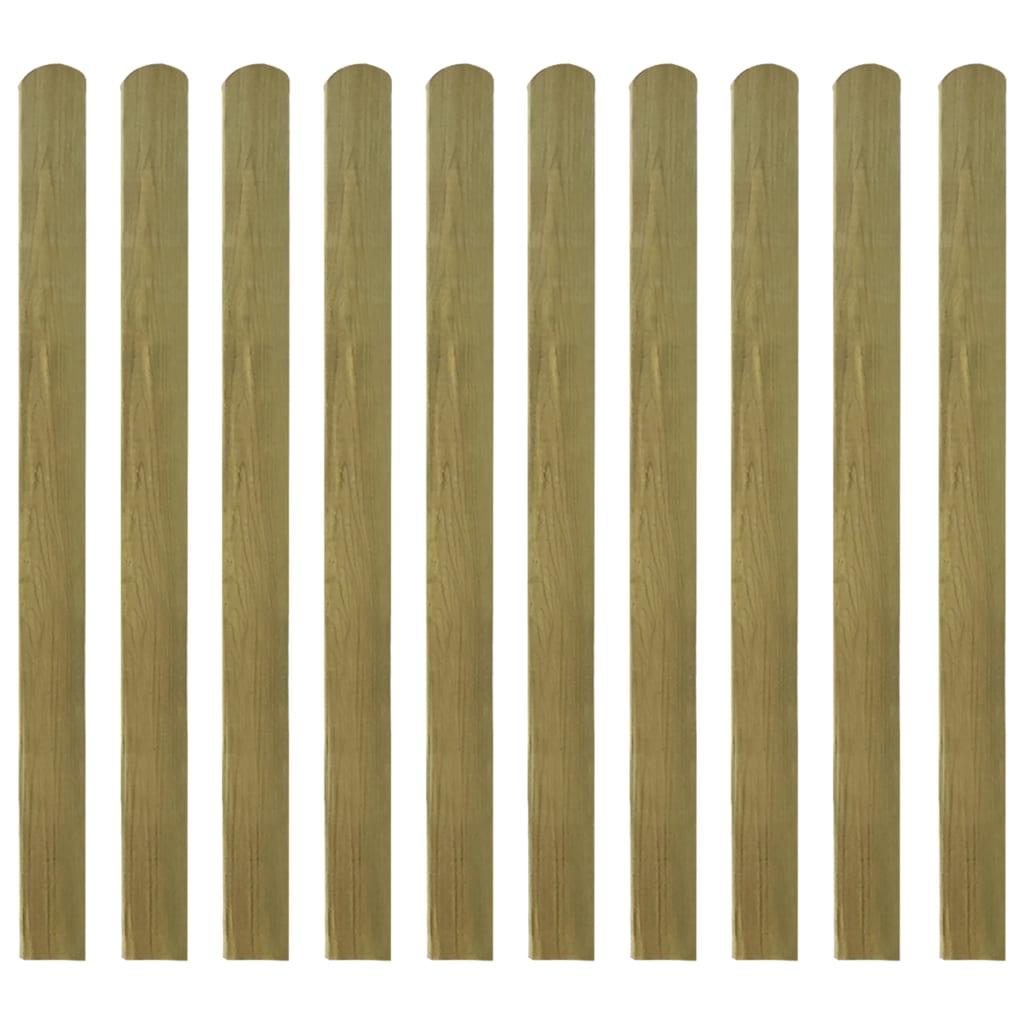 vidaXL 10 db impregnált fa kerítés léc 120 cm