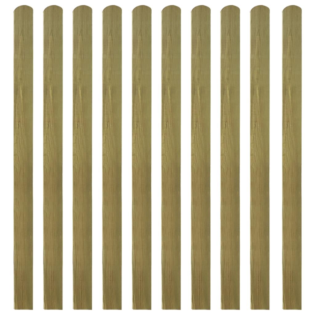 vidaXL 10 db impregnált fa kerítés léc 140 cm